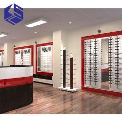 Décoration en bois durable magasin optique lunettes étagère d'affichage