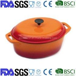 De LFGB Gekwalificeerde Pot van de Braadpan van het Gietijzer van het Email, Cookware