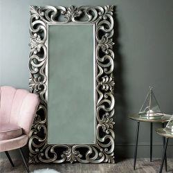 Specchio incorniciato poliuretano decorativo barrocco della parete con il blocco per grafici