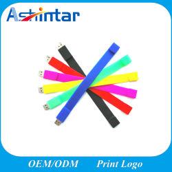 Aandrijving van de Flits van de Manchet USB van de Armband van de Stok USB van de Gift van de bevordering de Rubber