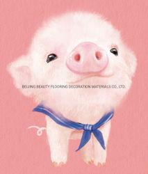 Kleine rosafarbene Diamant-Farbanstrich-Installationssätze des Schwein-5D, die auf Segeltuch anstreichen