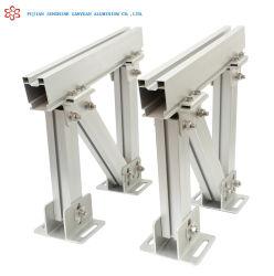 ZonneSteun A6005 van het Dak van het Profiel van het Frame van het aluminium/van het Aluminium de Uitdrijving Geanodiseerde Vlakke