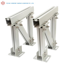 Aluminiumstrangpresßling-flaches Dach-Solarhalter A6005 anodisiert
