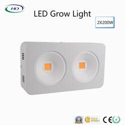 2*200W à haute efficacité énergétique conduit grandir la lumière avec réflecteur COB+ Conception brevetée