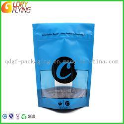 Hanf-Blumen-Plastik-Beutel mit doppelten Reißverschluss-/Tabak-verpackenbeuteln