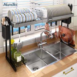 Hauptspeicherwannen-Küche-Regal-Organisatordrainer-Tellerständer-expandierbarer Ausstellungsstand