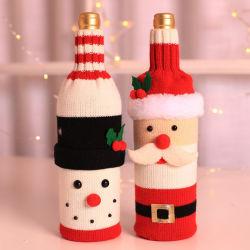 Champagner Wein Flaschendekorationen Weihnachtsflaschen Verpackung Geschenktüten