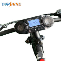 Resistente al agua oculta 2G 3G 4G 4G integrado GPS Tracker de bicicletas en la pantalla LCD de música HiFi