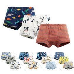 Preiswerte beste Schriftsatz-Großhandelsform scherzt Jungen-Boxer-Kurzschluss-Unterwäsche der Mädchen-100%Cotton