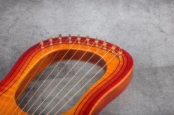 Madera de Arce sólido Lira tono C Arpa Instrumentos musicales de instrumento de cuerda de la fábrica de Gecko Professional