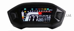 جزء الدراجة البخارية شاشة LCD رقمية عامة إضاءة خلفية شاشة رقمية دورة تلقائية عداد المسافة عداد السرعة مقياس السرعة المقياس