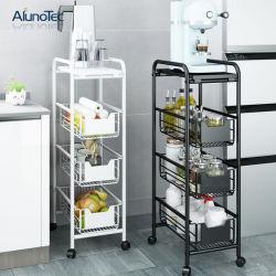 Metal de 4 niveles de rodadura de la utilidad de la mano carrito Carrito Organizador de Rack almacenamiento de muebles de cocina