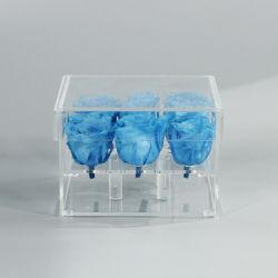 Mini scatola di presentazione acrilica libera del fiore della Rosa della decorazione domestica