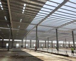 L'énergie La conservation de la colonne H Section préfabriqués Structure en acier pour la vente