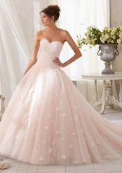 Розовый устраивающих шарик платье мусульманские свадебные платья тюль Quinceanera платье Organza