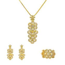 Kristallschmucksache-gesetztes Frauen-Jahrestags-Geburtstag-Fertigkeit-Geschenk-Halsketten-Set