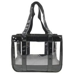 PVC impermeable Transparente amplio espacio en el bolso de la Mascota Puppy Kitty Bolsa de diapositiva el lado