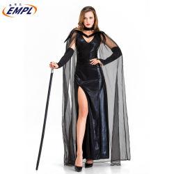 O Dia das Bruxas Traje Queen Adulto Cosplay trajes vestido para Mulheres