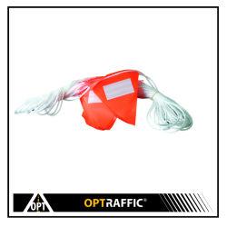 20A 교통 안전 삼각형 플래그 주황색 PVC 주의 분팅 라인