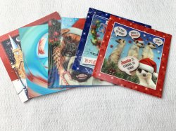 習慣3Dのレンズの印刷の郵便はがきのクリスマスの挨拶状