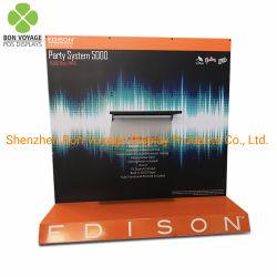 Pop up personnalisé étage parleur audio permanent Présentoir en métal avec de la publicité en rack