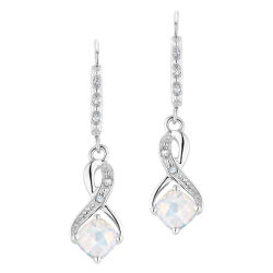 オパールおよびダイヤモンドのスターリング銀のイヤリングの卸売の卸売の卸売