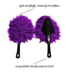 La pulizia lunga infilantesi registrabile dell'automobile della maniglia della scopa del Chenille del Mop di pulizia di spazzola del lavaggio di automobile lavora la spazzola rotativa