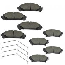 Commerce de gros de pièces de voiture Auto l'essieu avant de différents matériaux de plaquettes de frein à disque