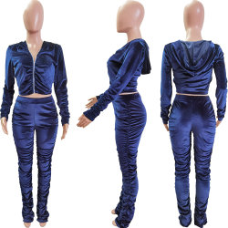 Caída de las mujeres trajes dos piezas establecer la mujer traje de sudor Activewear Chándal sudaderas con capucha Set