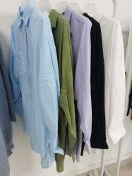 Nieuwste Shirt Designs for Women Button Down Shirt White Long Sleeve Cotton Shirt