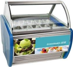 Equipos de refrigeración comercial expositor de helados Gelato