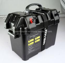 Schwarze elektrische mit der Schleppangel fischene Bewegungsintelligente Batterie-Kasten-Energien-Mitte mit USB-und Gleichstrom-Kanälen