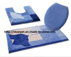 Insieme della stuoia di bagno del Chenille di Microfiber 3PCS