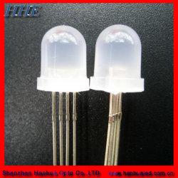 20 mA blanco 8mm ronda difusa de diodos LED RGB (HH-800CRGB503).
