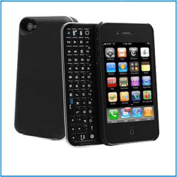 Étui rigide avec toboggan clavier arabe Bluetooth pour Apple iPhone 4