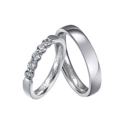 유행 OEM/ODM에 의하여 주문을 받아서 만들어지는 한 쌍 925 은 보석 결혼 반지 반지