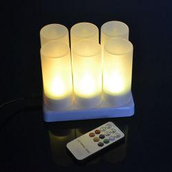 Pilha recarregável Linli Flameless velas acesas as luzes de chá, Velas LED piscando Fake Velas com controle remoto, Branco Quente Tealight para festas, casamentos, Bar, Família, Jantar