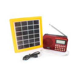 ترانزستور راديو مقاوم للإذاعة الشمسية الداخلي FM/AM/SW قابل للشحن