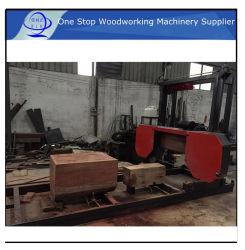 Mjr 1200*8000 Procesamiento de diapasón de sierra de banda del pórtico de madera / Sierra de corte / aserrado de madera redonda con el giro automático de la hoja de sierra mayorista con precios baratos