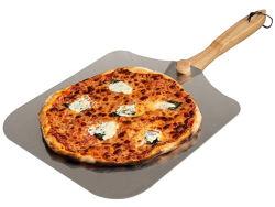 Pala della buccia della pizza di cottura dell'acciaio inossidabile con la maniglia di legno di piegatura per memoria facile