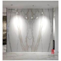 El interior de Foshan 3200X1600 de 6mm 12mm Blanco vidriado de gran formato mármol Calacatta cerámica azulejos de porcelana fina