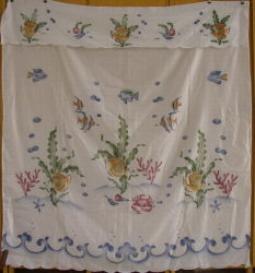 印刷されたカーテン