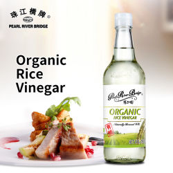 500 ml de vinagre de arroz orgánico Puente del Río Perla natural marca ceba no OMG vinagre
