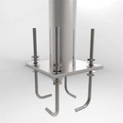 9M シングルダブルアーム亜鉛メッキ金属 / スチールストリート照明 / ライトポール