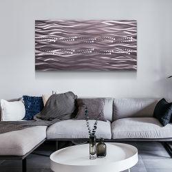 도매 요약 3D 금속 LED 색칠 수공예 실내 가정 장식을%s 현대 벽 예술