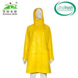 Leuchtstoff Kraft PU-Gewebe EVP-Sicherheits-Kleid-Gebrauch-Polyester-feuerfestes wasserdichtes Gewebe des Gelb-En20471 hallo