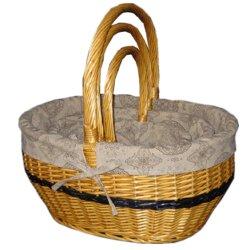 Sauce mimbre Picnic Flor cesta tejida de regalo