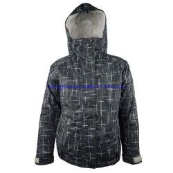 Детей детский открытый водонепроницаемый печати ткань из микроволокна зимой мягкий Лыжный поход куртка