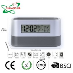 DIGITAL Alarm Clock Calendar Thermometer LCD Screen Displayとの卸し売りOffice Home Pen Holder