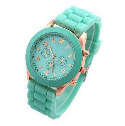 Spitzenluxuxmarken-Silikon-Quarz-Uhr-Frauen-Mann-Dame-Form Bracelt Armbanduhr-Armbanduhr Relogio Feminino Masculino Taktgeber